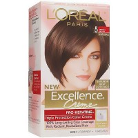 LOreal Excellence Triple Protection Hair Color Creme, 5 Medium Brown - 1 EA