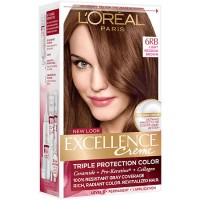 LOreal Excellence Triple Protection Hair Color Creme, 6RB Light Reddish Brown - 1 EA