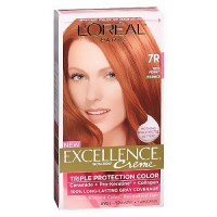 LOreal excellence triple protection hair color creme, #7R red penny - 1 ea