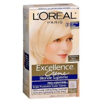 LOreal Excellence Triple Protection Hair Color Creme, 1 Extra Light Blonde - 1 Ea