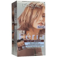 LOreal Feria hi lift cool brown multi faceted shimmering hair color gel, #B61 downtown brown - 1 ea