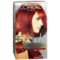 Loreal Feria multi faceted shimmering haircolor, 56 brilliant bordeaux, auburn brown - 1 ea