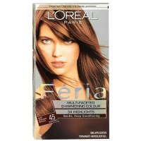LOreal Feria multi faceted shimmering hair color, #45 french roast - 1 ea