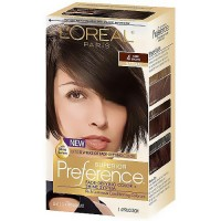 LOreal Superior Preference Hair Color, 4 Dark Brown - 1 Ea