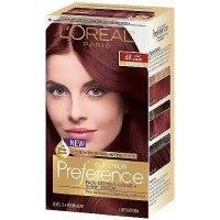 Loreal superior preference fade defying hair color and shine system, #4R dark auburn - 1 ea