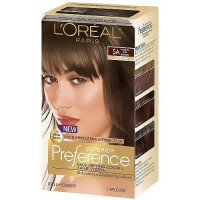 LOreal superior preference hair color, medium ash brown #5A - 1 ea