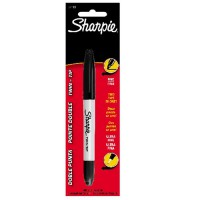 Sharpie twin tip fine and ultra fine permanent marker - 6 ea