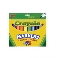 Crayola broad line markers, classic colors - 10 count