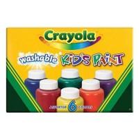 Crayola washable kids 2 oz paint bottles, assorted colors - 6 ea