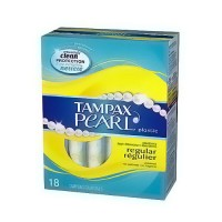 Tampax Pearl Regular Plastic Tampons, Unscented - 18 ea