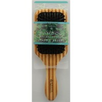 Earth therapeutics natural bamboo bristle paddle brush large - 1 ea