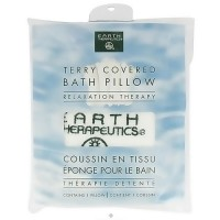 Earth Therapeutics white terry covered bath pillow relaxation therapy - 1 ea