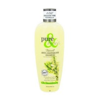 Pure and Basic Natural Shampoo Anti Dandruff Tea Tree and Rosemary - 12 oz