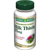 Milk thistle 175 mg standardized extract capsules by natures bounty - 100 ea
