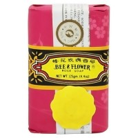 Bee and Flower Rose bar soap - 4.4 oz