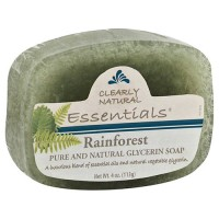 Clearly natural glycerine bar soap, rainforest - 4 oz