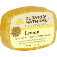 Clearly natural essentials glycerine soap bar, Lemon - 4 oz
