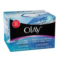 Olay 4 in 1 daily facial cloths for oily skin - 33 ea