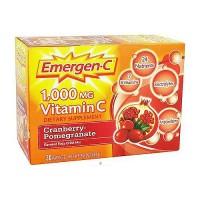 Emergen-C 1000mg vitamin C fizzy drink mix, cranberry pomegranate, 30 ea