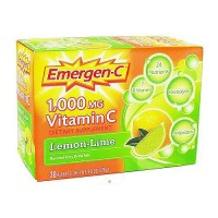 Emergen-C 1000 mg vitamin C Lemon Lime, fizzy drink mix - 30 ea