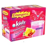 Alacer Emergen C Vitamin C 250 mg Kidz Fruit Punch Packets - 30 ea
