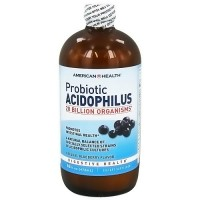 American Health probiotic acidophilus culture liquid, Natural Blueberry, 16 oz