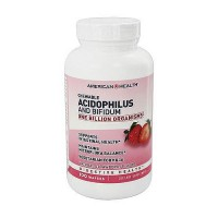 American Health acidophilus chewable with bifidus, Natural Strawberry - 100 Wafers