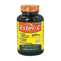 American Health Non acidic Ester-C 500 mg vegetarian tablets for immune support, 225 ea