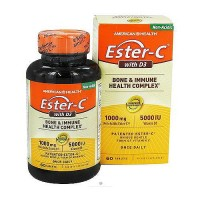 American Health ester C with D3 bone and immune health complex tablets - 60 ea