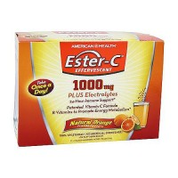 American Health Ester-C 1000mg Plus Electrolytes Orange Flavor  - 21 Packets