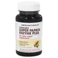 American Health super papaya enzyme plus chewable tablets - 90 ea