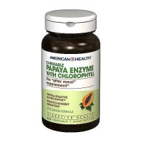 American Health papaya enzyme with Chlorophy ll chewable tablets - 100 ea