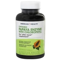 American Health papaya enzyme with chlorophyll, chewable - 250 tablets