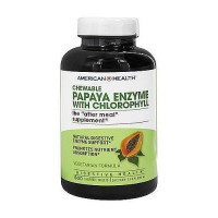 American Health papaya enzyme with chloropyll chewable tablets, 600 ea