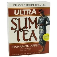Hobe Labs Delicious Herbal Formula Ultra Slim Tea, Cinnamon Apple - 24 bags