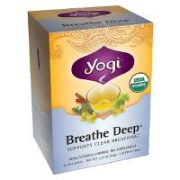 Yogi Breathe Deep Herbal Supplement Tea Bags - 16 ea, 6 pack