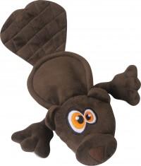 Quaker Pet Group hear doggy flattie beaver ultrasonic dog toy - 24 ea