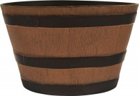Southern Patio hdr whiskey barrel planter - 22.5 inch, 8 ea