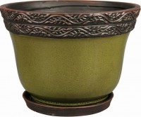 Southern Patio clayworks reserva planter - 8 in, 2 ea