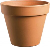 Southern Patio standard clay pot - 6 inch, 12 ea