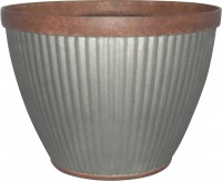 Southern Patio pleated round-rustic planter - 20 in, 4 ea