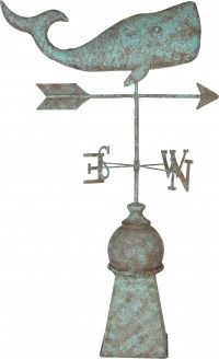Southern Patio whale weathervane - 33.5 inch, 2 ea