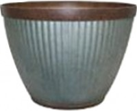 Southern Patio westlake round planter - 15in, 8 ea