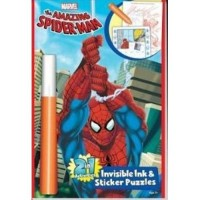 marvel Amazing spider man invisible ink and sticker puzzle book - 3 ea