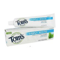 Toms of maine simply white natural flouride toothpaste, clean mint - 4.7 oz, 6 pack