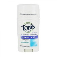 TomS Of Maine natural deodorant stick, unscented - 2.25 oz, 6 pack