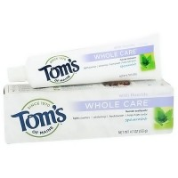 Toms of maine whole care toothpaste with fluoride, spearmint - 4.7 oz