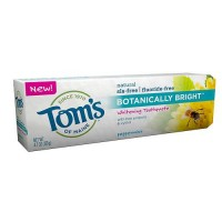 Toms of maine botanically bright whitening toothpaste peppermint- 4.7 oz
