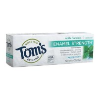 Toms of maine enamel strength toothpaste with fluoride, peppermint  -  4 oz ,6 pack