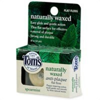 Toms of Maine Naturally Waxed Antiplaque Flat Floss, Spearmint - 32 Yd